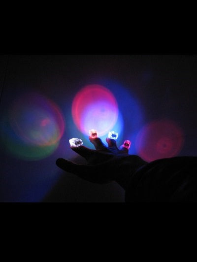 Finger Light, 7 Colour - BULK - 100pcs-bag - Glow Sticks Wholesale