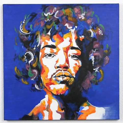 Jimi Hendrix Hand-Made Portrait