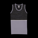 Blocked Reflective Tank Top (Gray)