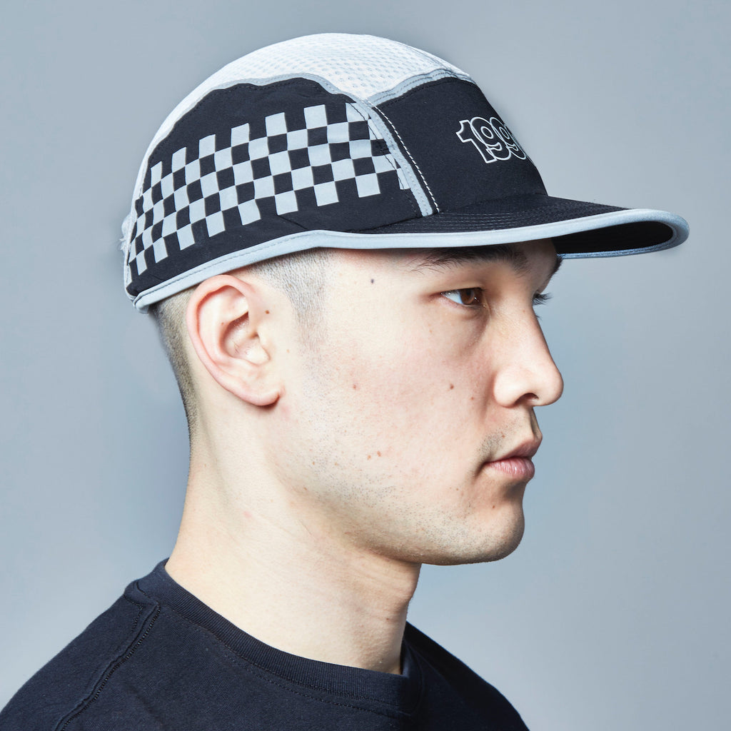 Checker Reflective 5-Panel Cap (Black)