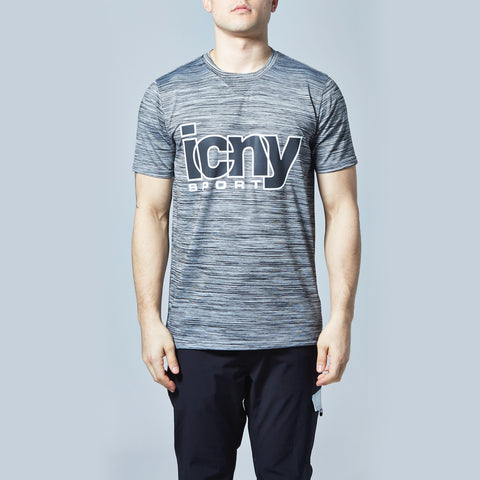Overlap Reflective T-Shirt (Gray)