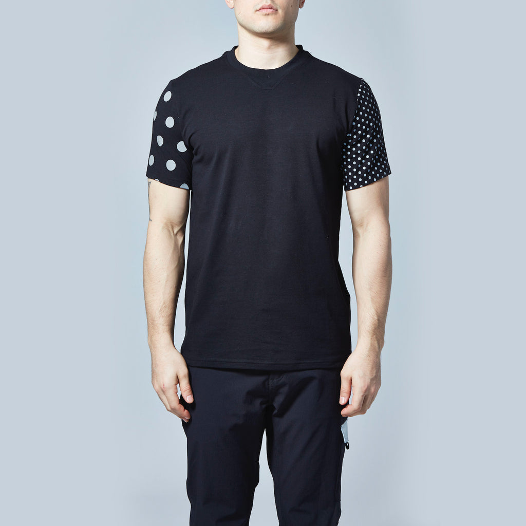 Multi Dot Reflective T-Shirt (Black)