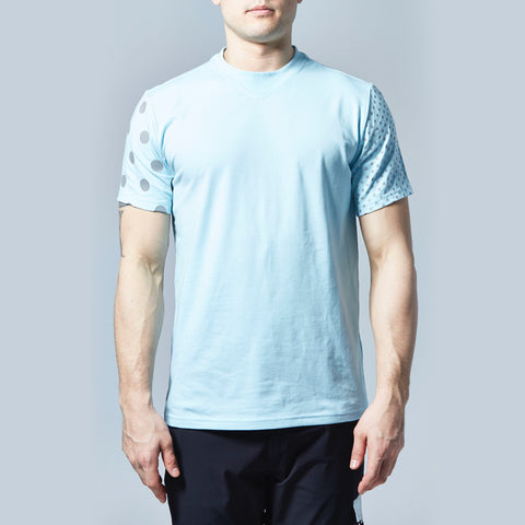 Multi Dot Reflective T-Shirt (Light Blue)