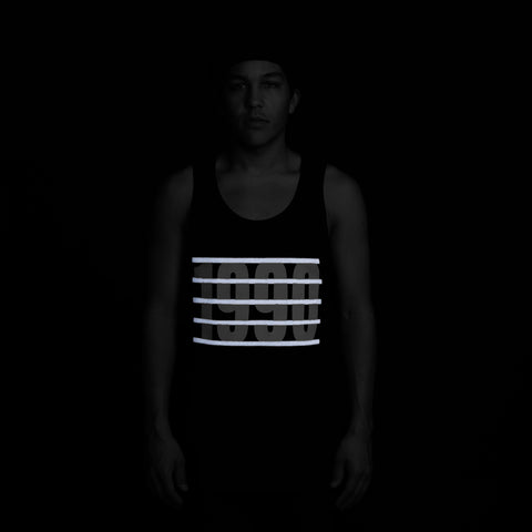 ICNY SPORT Behind Reflective Tank Top