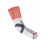 ICNY SPORT Block Split Dot Reflective Half Calf Socks (White)