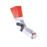 ICNY SPORT Block Fade Gradient Reflective Half Calf Socks (White)