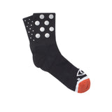 Mix Dot Reflective Quarter Ankle Socks (Black)