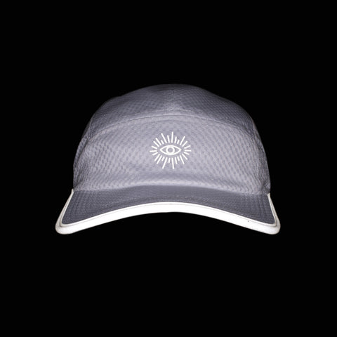 Court Reflective 5-Panel Cap (White)