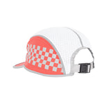 Checker Reflective 5-Panel Cap (Red)