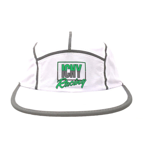 ICNY SPORT All Court 3M Reflective 5-Panel Cap (White)
