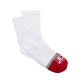 White Reflective Quarter Ankle Mini Dot Socks