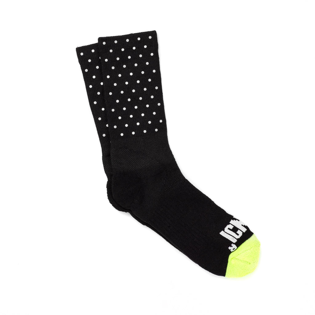 Mini Dot Reflective Half Calf Sock (Black)