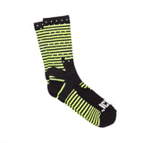 Mini Stripe Reflective Half Calf Sock (Yellow)