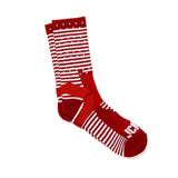 Mini Stripe Reflective Half Calf Sock (Burgundy)