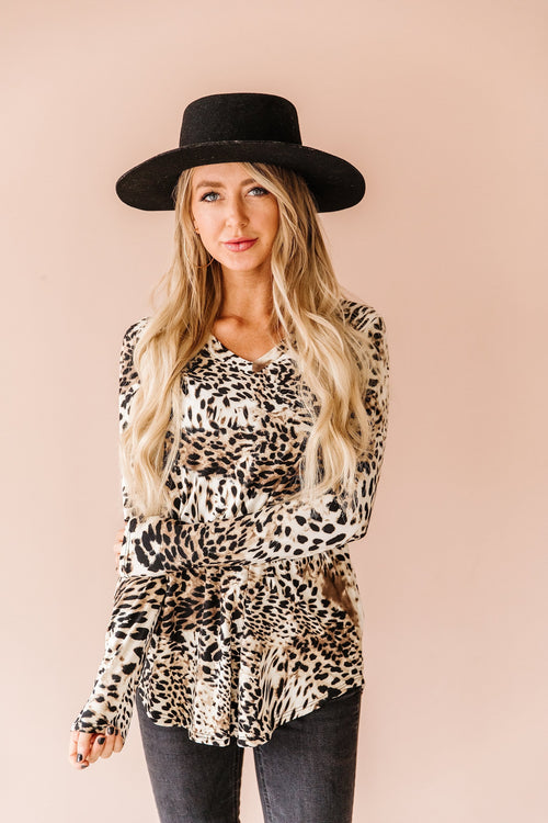 The Kiari Top in Animal Print