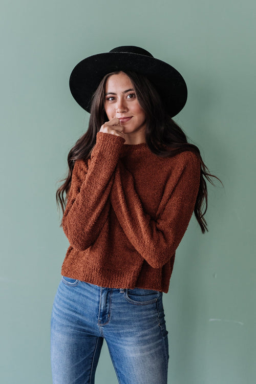 The Newton Knit Sweater in Cloud or Mocha