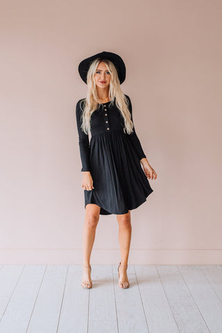 The Selene Ruffled Maxi Dress in Black