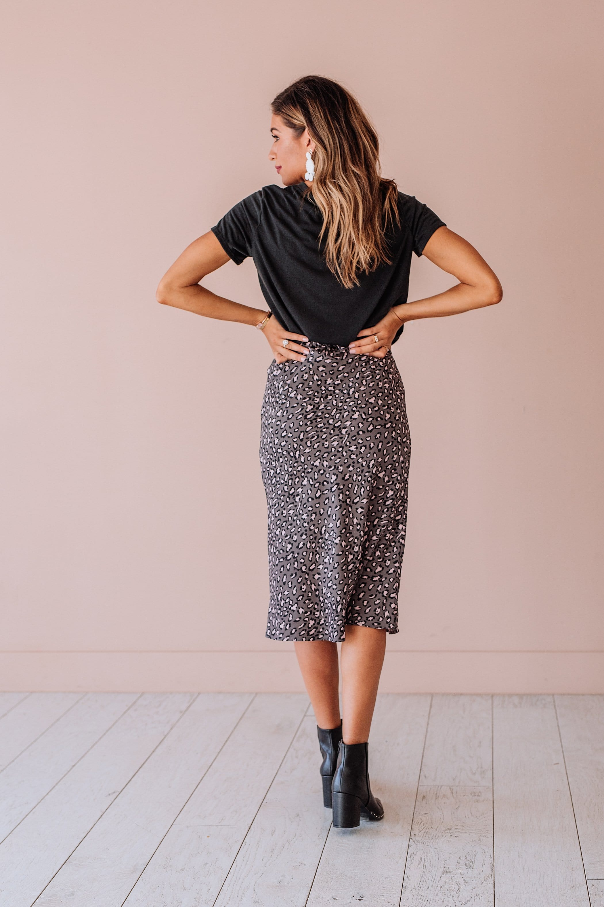 The Dhara Skirt in Leopard Print