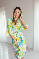 The Tayla Robe in Multi Stripe