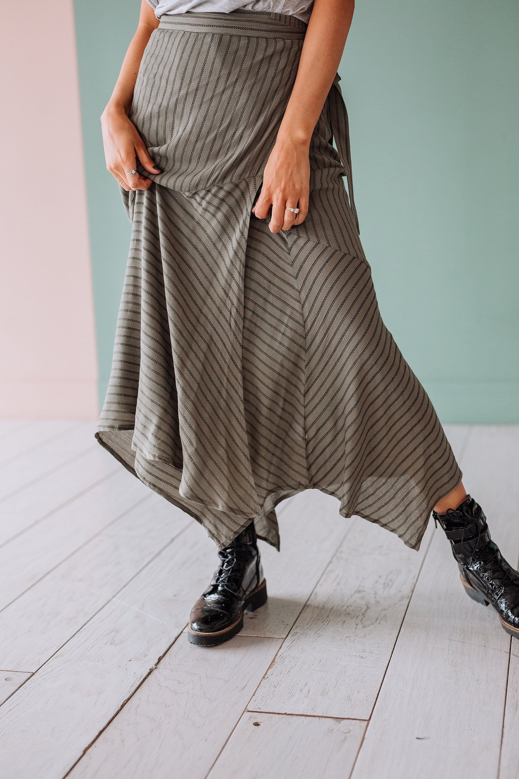 The Lancaster Wrap Skirt in Sage
