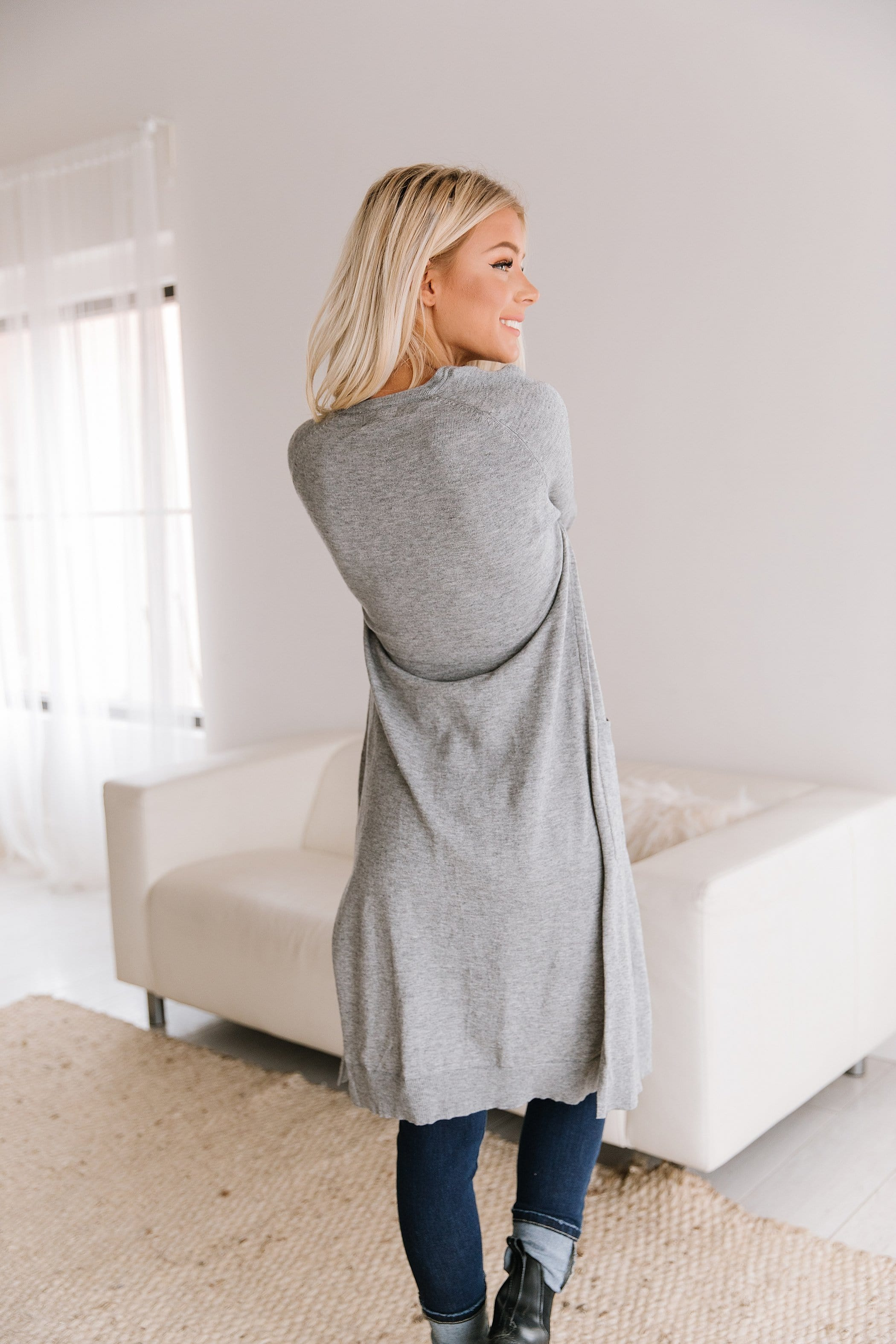 The Lincoln Cardigan in Grey