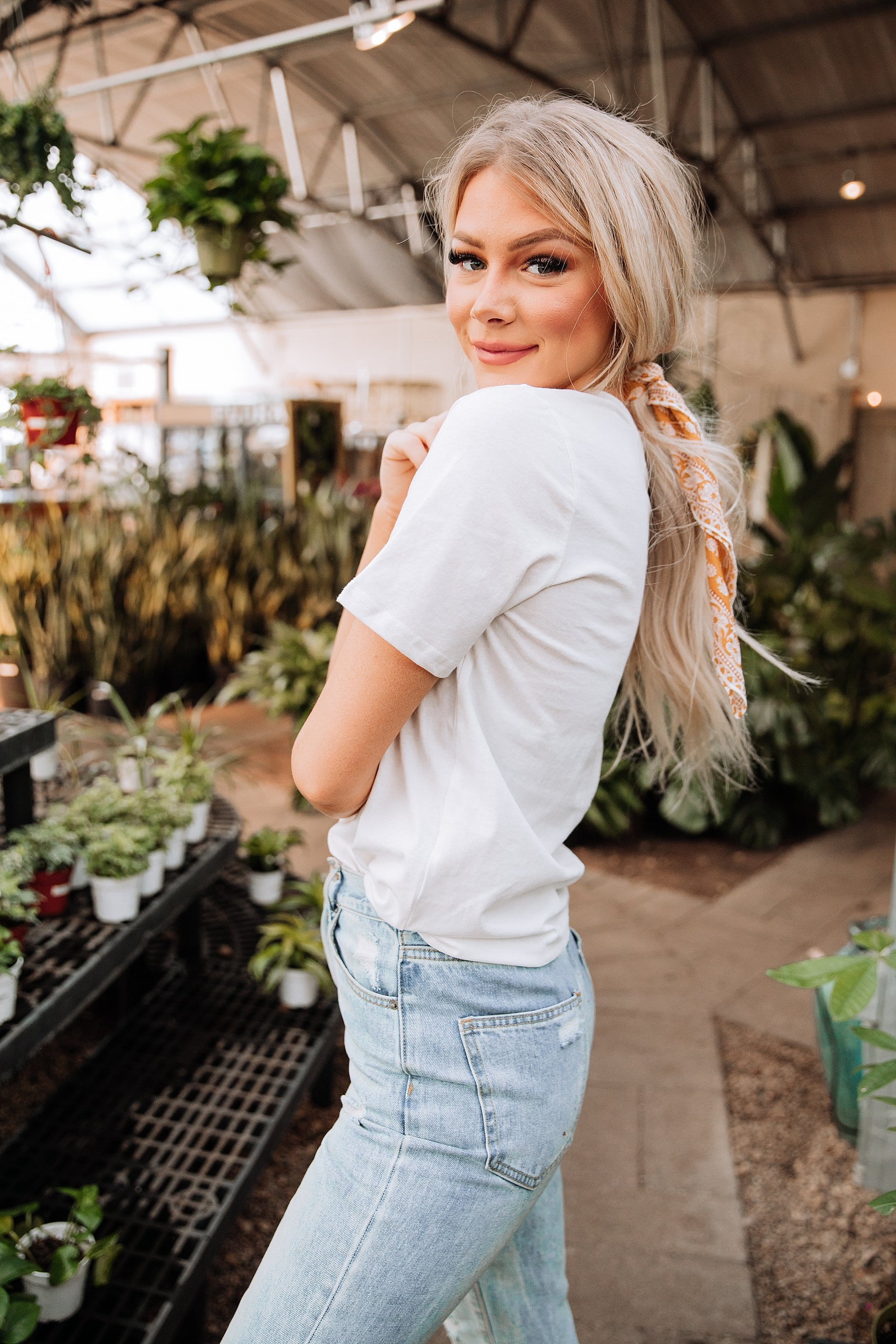 The Sisterhood Embroidered Top in White