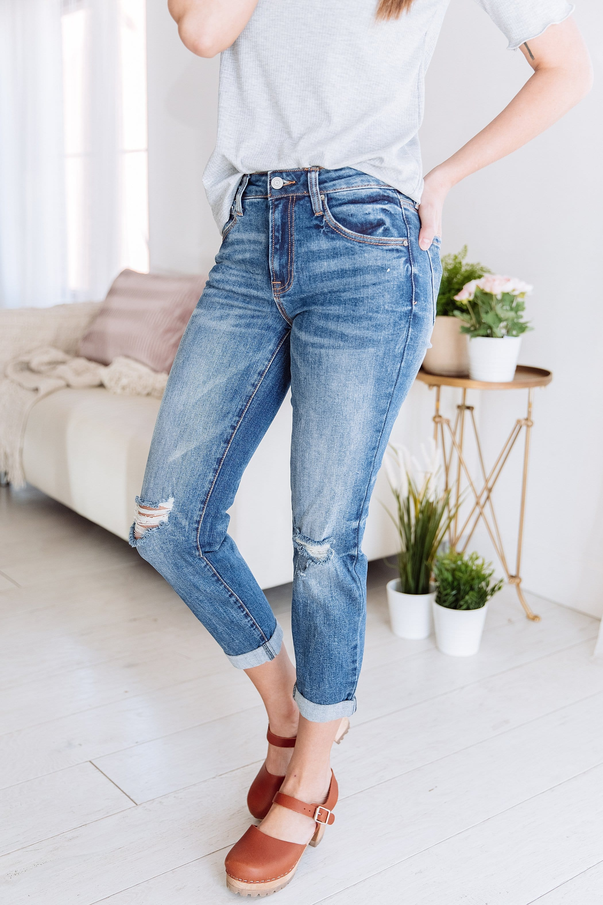 Brenna Mid Rise Slim Fit Jeans | Women's Denim Jeans