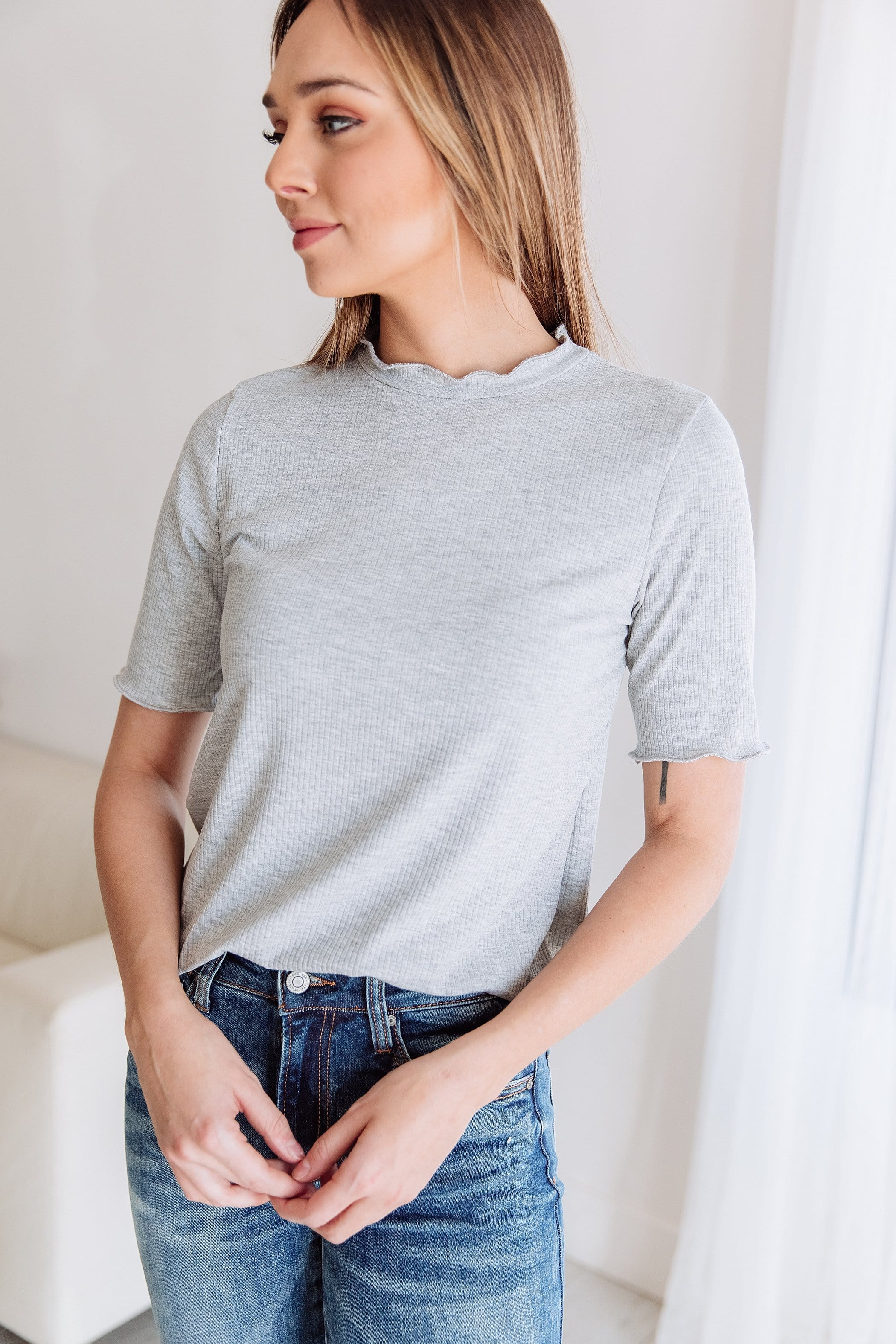 The Hannah Ribbed Top in Multiple Colors