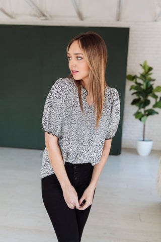 The Cleo Dolman Top in Black