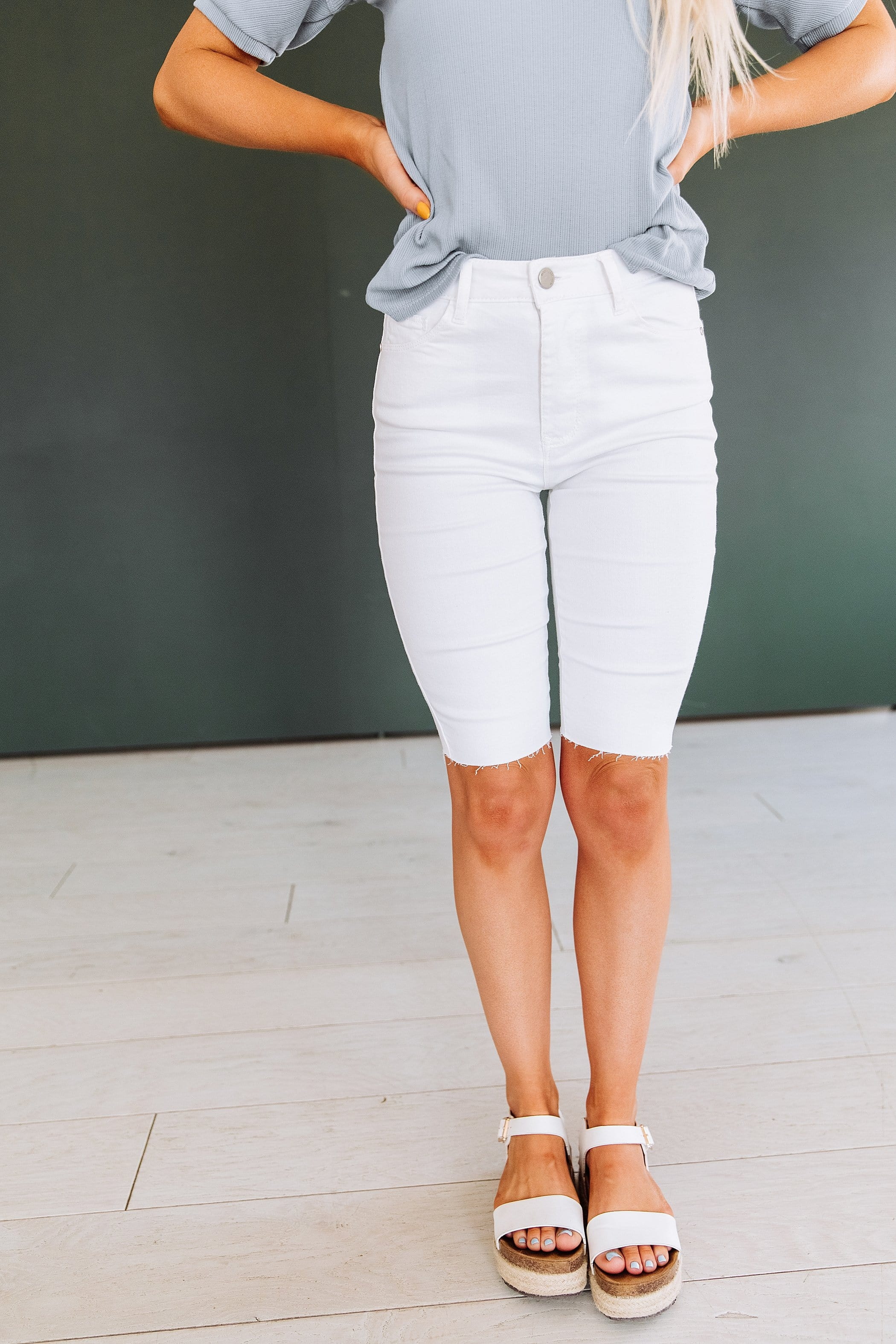 The Indy Bermuda Shorts in White