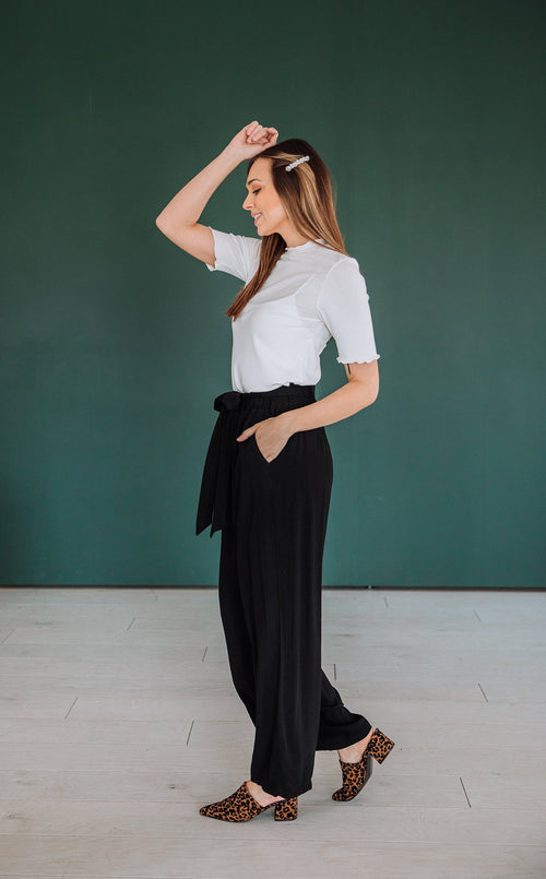 The Maldives Wide Leg Pants in Black