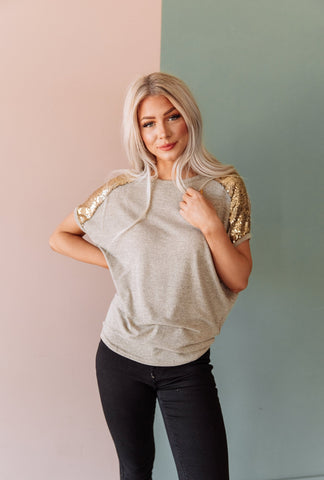 The Amal Puff Sleeve Top in Black
