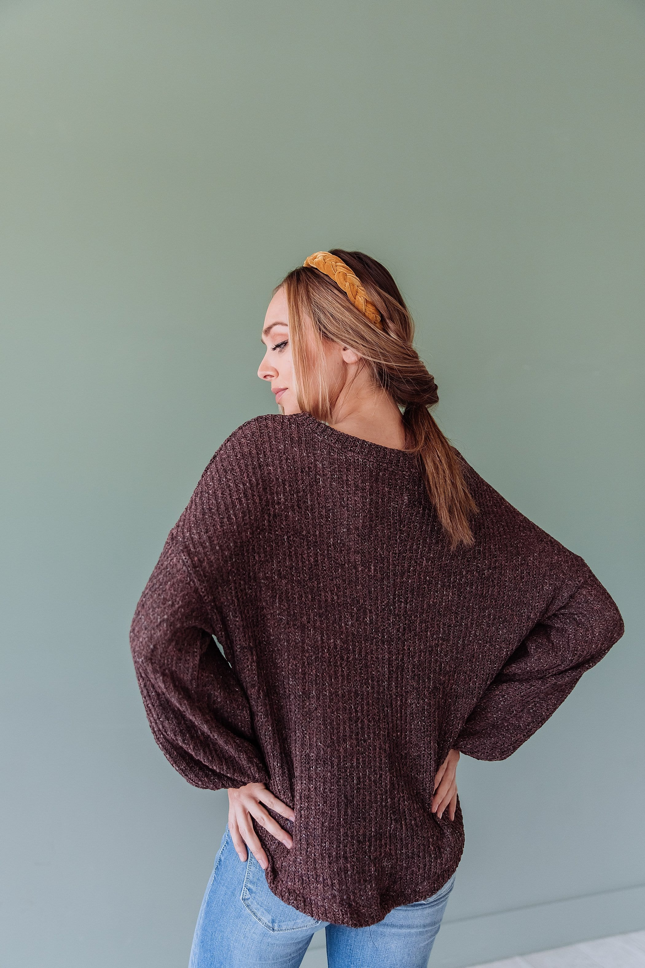 The Dallas Knit Sweater in Brown