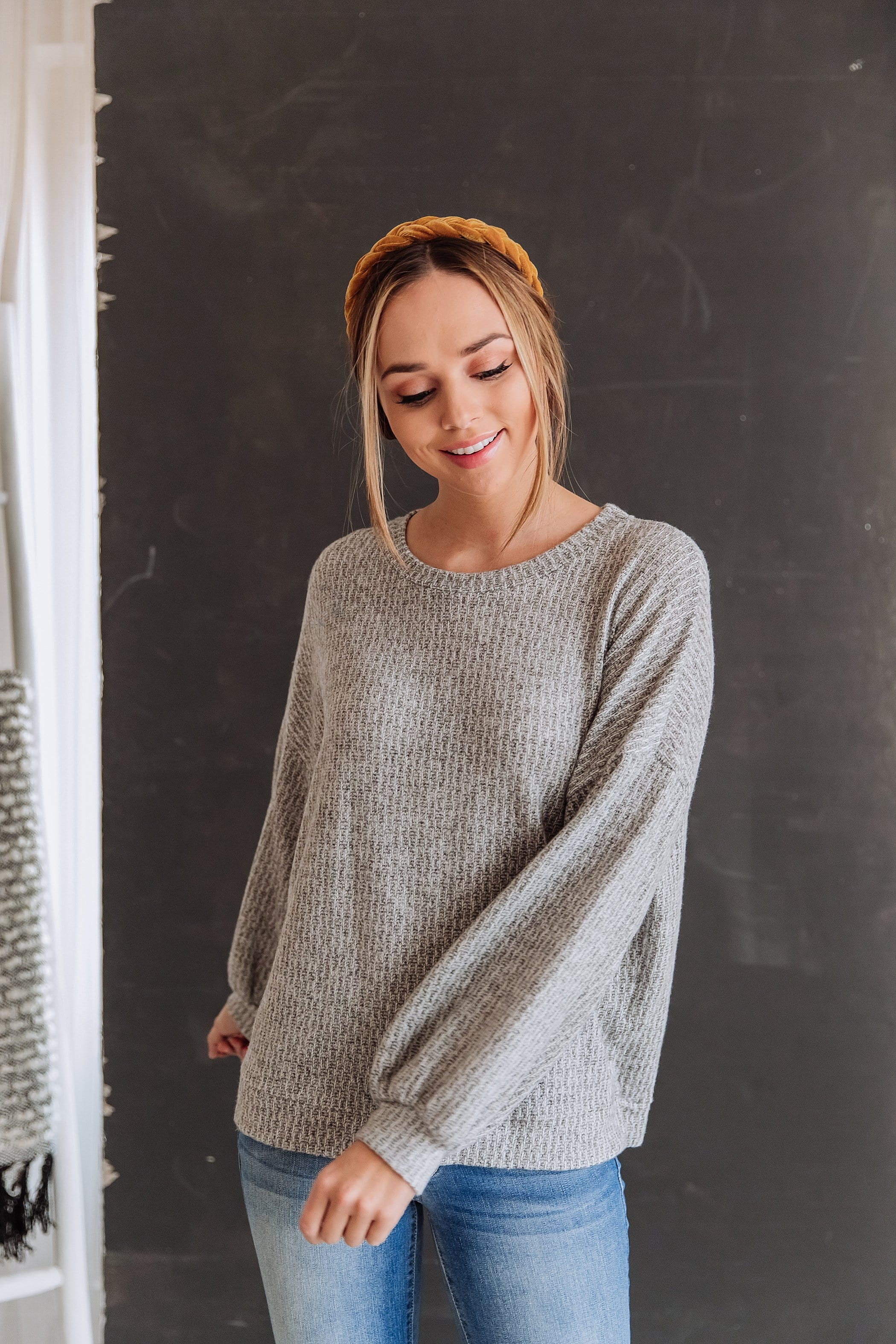 The Dasher Knit Sweater in Grey