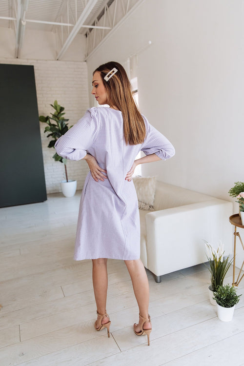 The Rebekah Shift Dress in Lavender