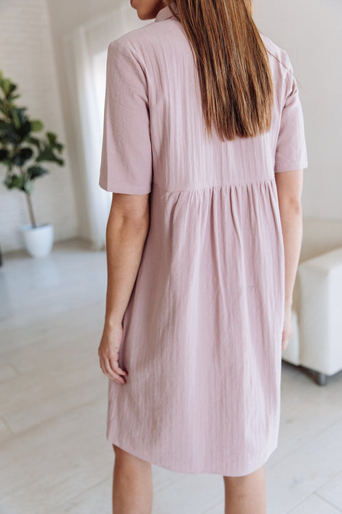 The Tabitha Embroidered Dress in Mauve