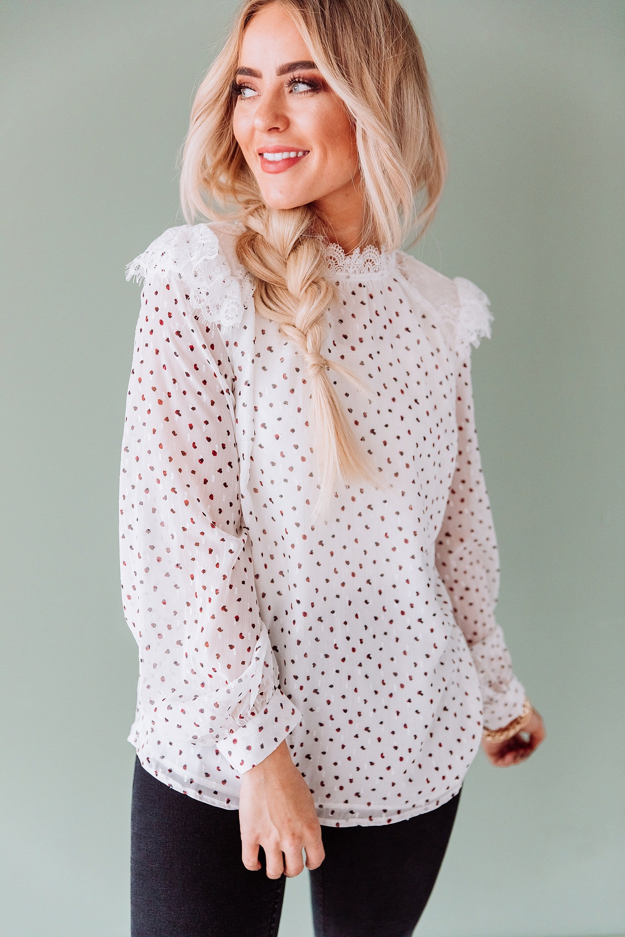 The Hally Lace Top in White