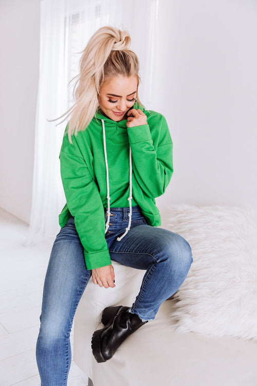 The Cypress Hoodie in Kelly Green
