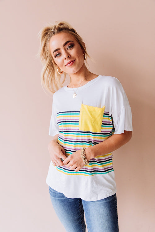 The Billie Striped Top in Multi