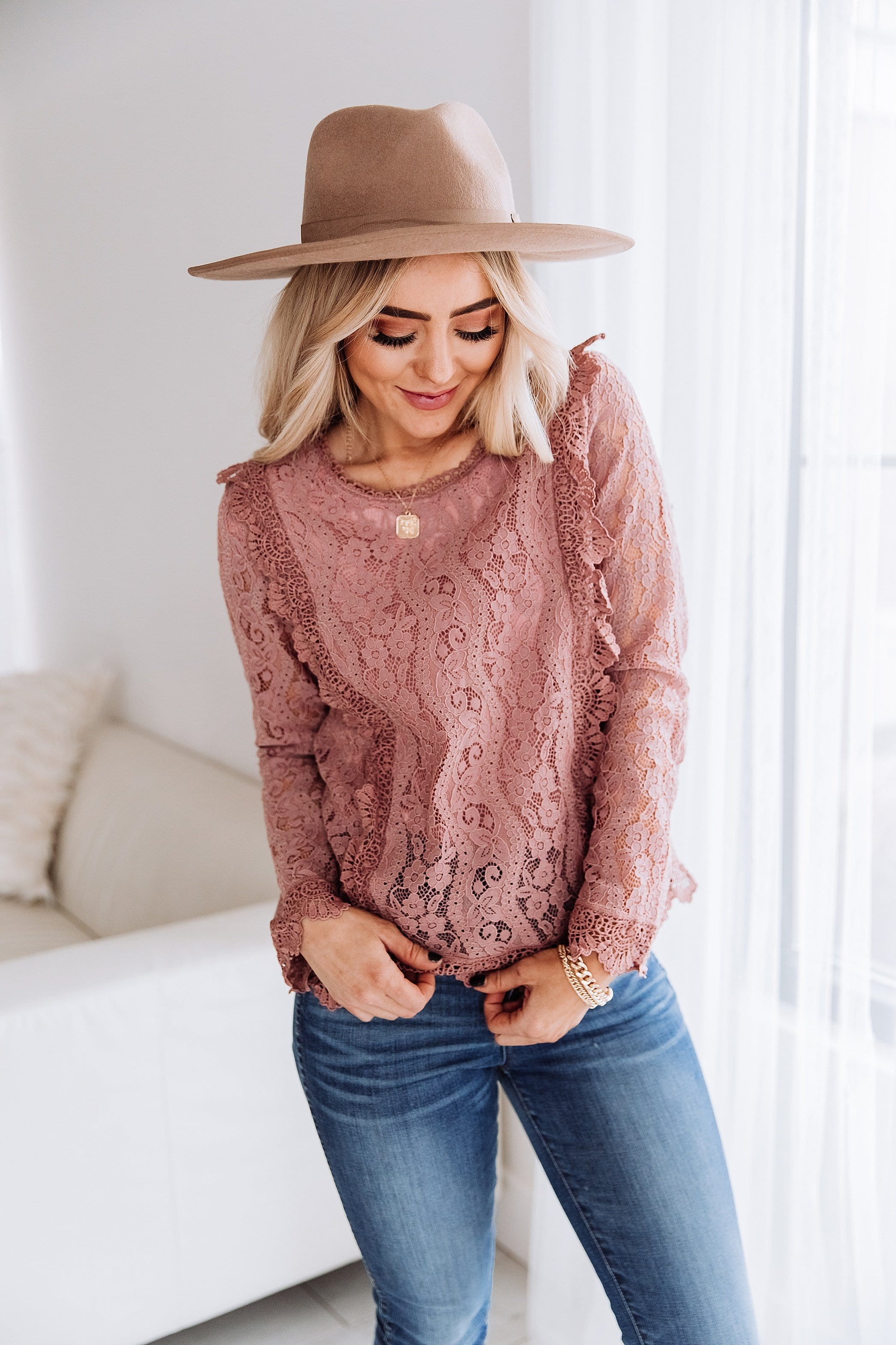 Zaria Lace Top | Beautiful Women's Blouse