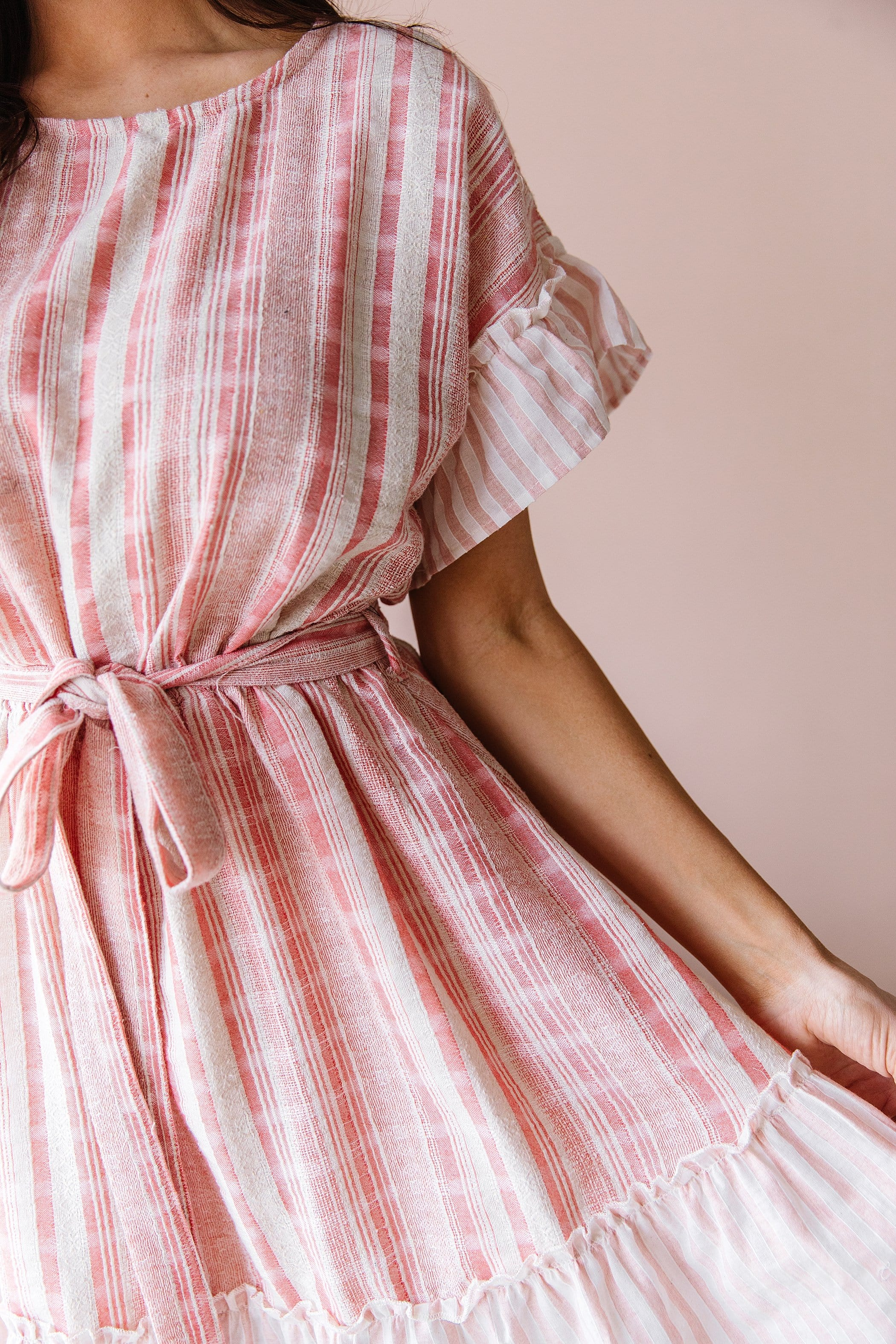 The Spring Ruffle Dress in Pink