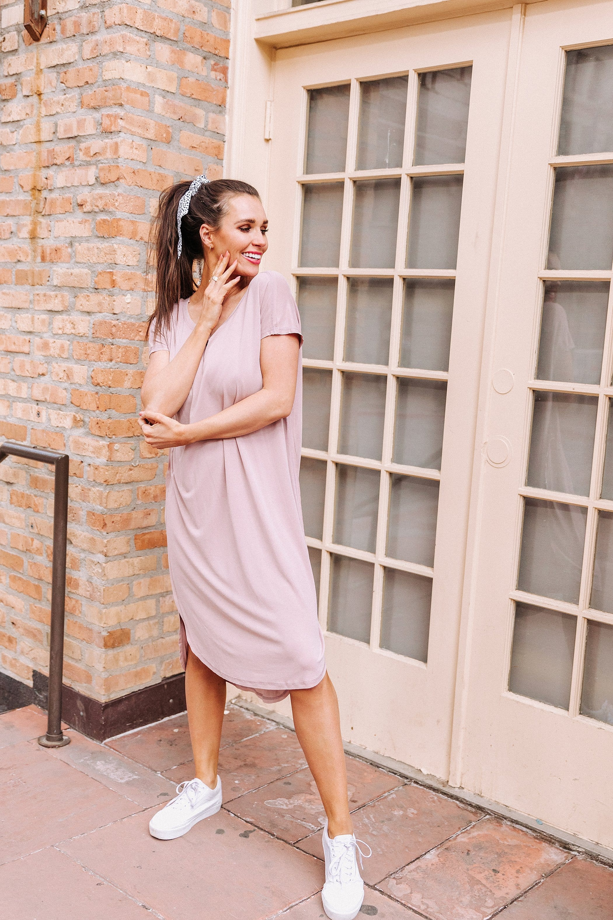The Caicos Raw Hem Dress in Black, Dusty Pink or Slate