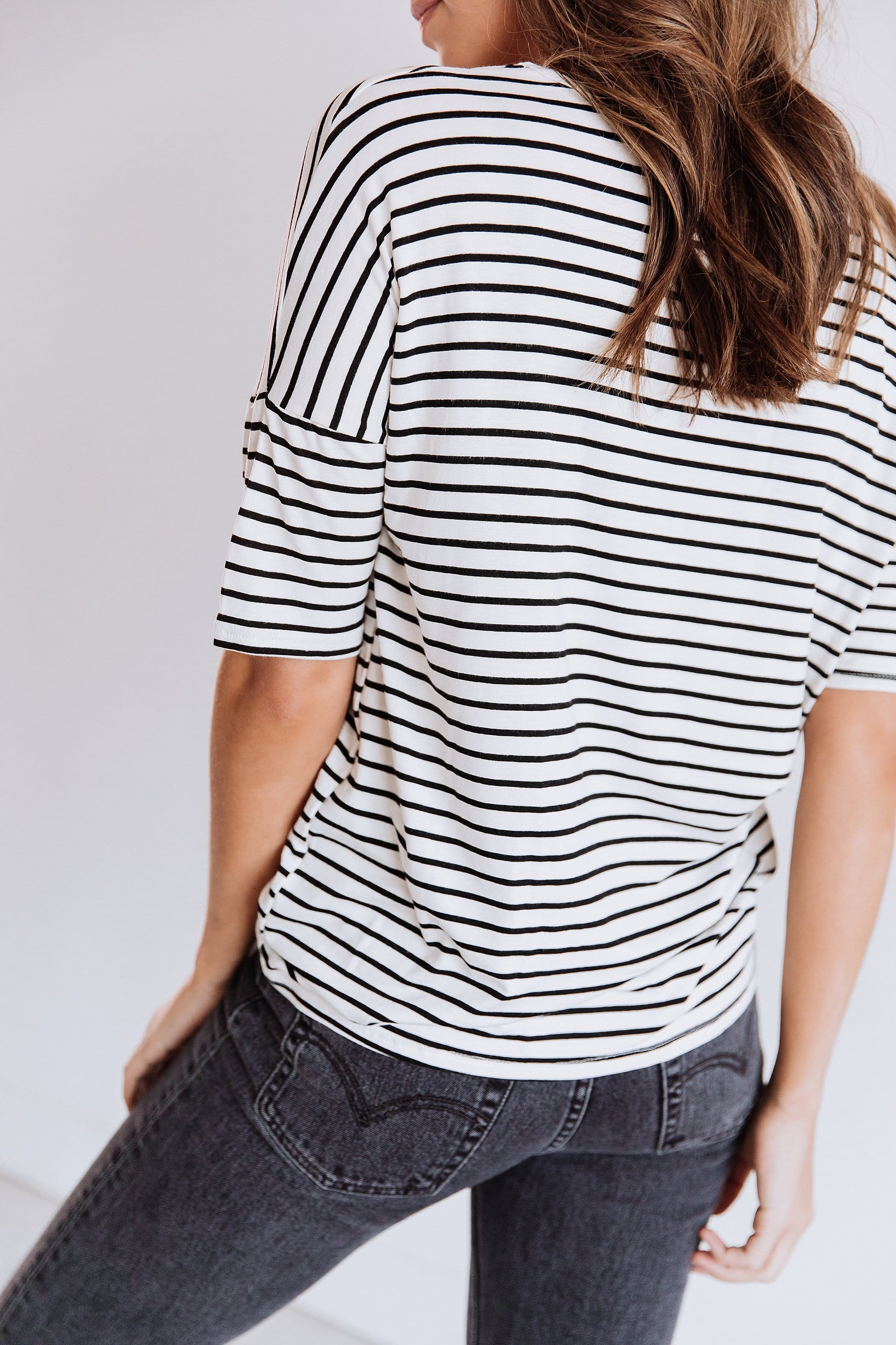 The Claremont Stripe Top in Ivory