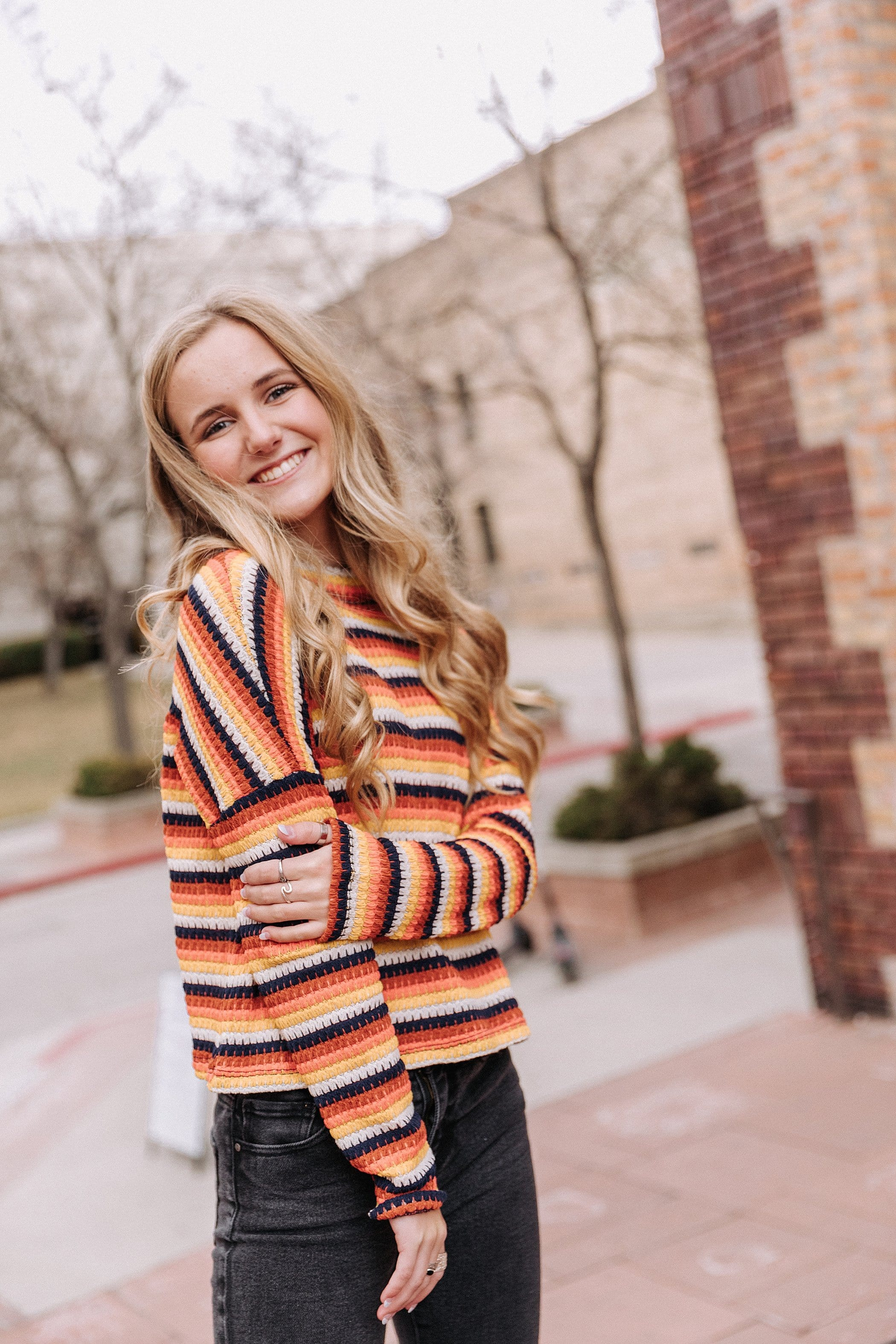 The Ames Stripe Top in Multi