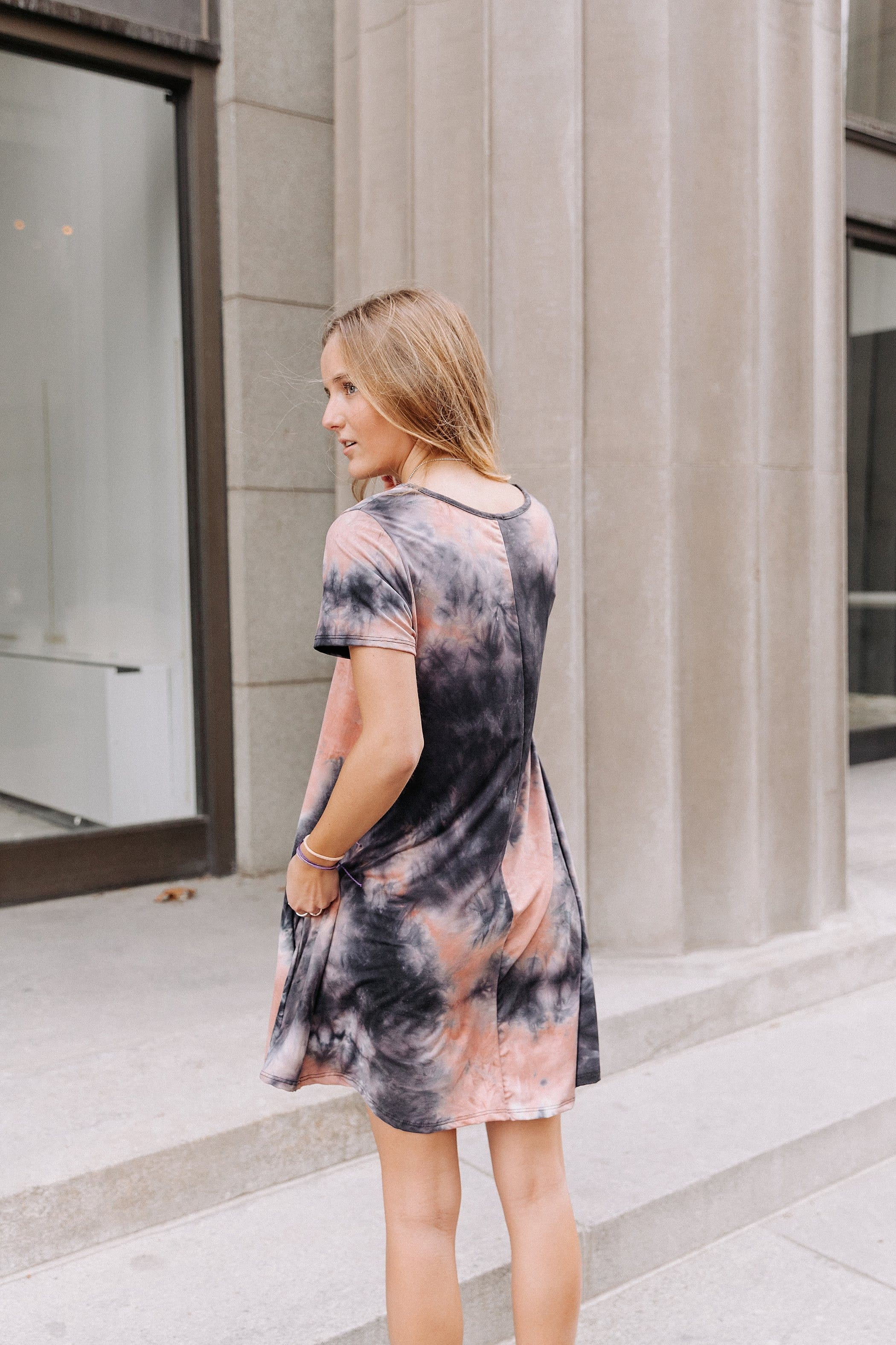 The Cayman Dress in Tie Dye