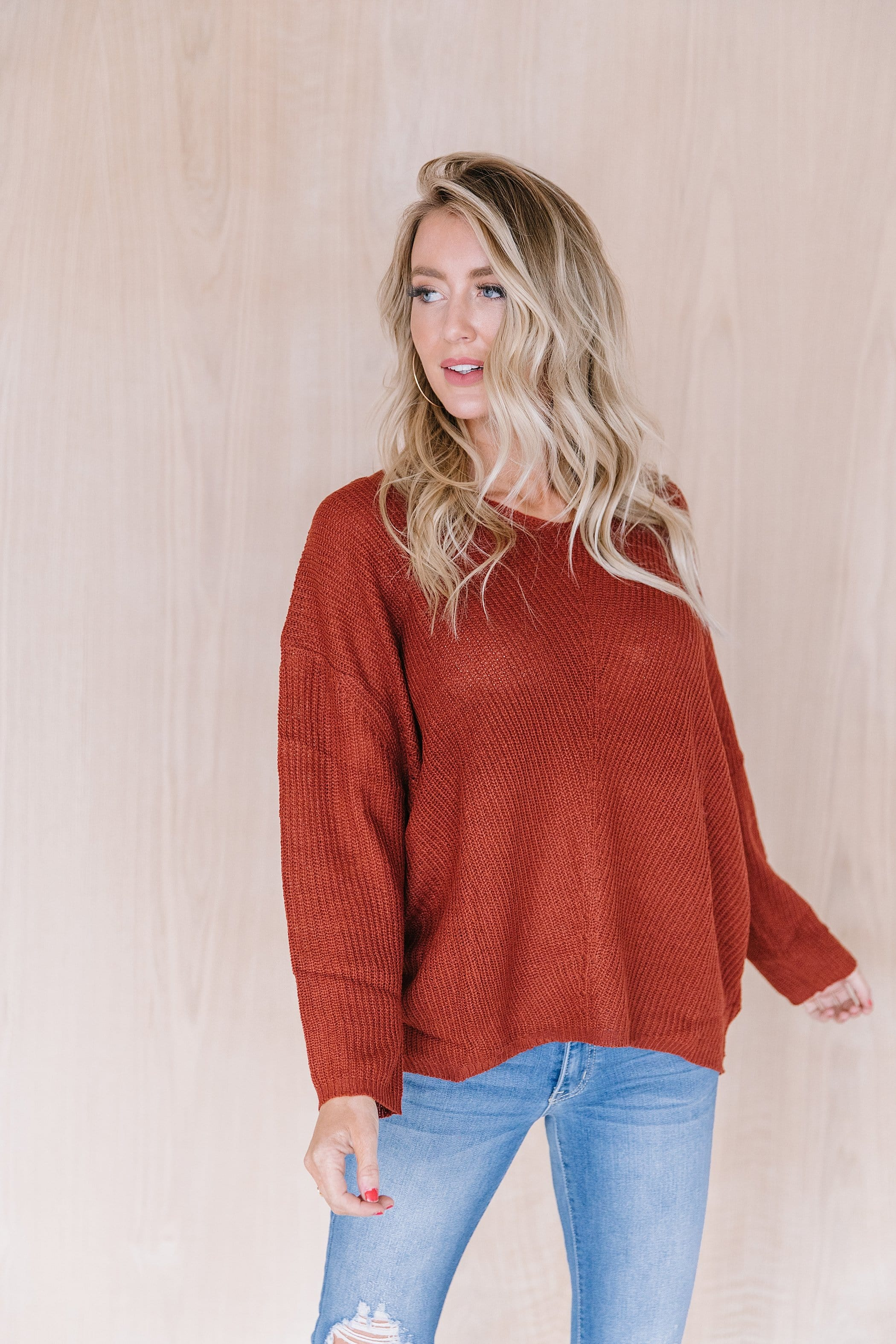 The Davis Knit Sweater in Spice
