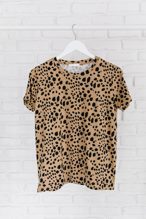 The Goulding Round Neck Top in Animal Print