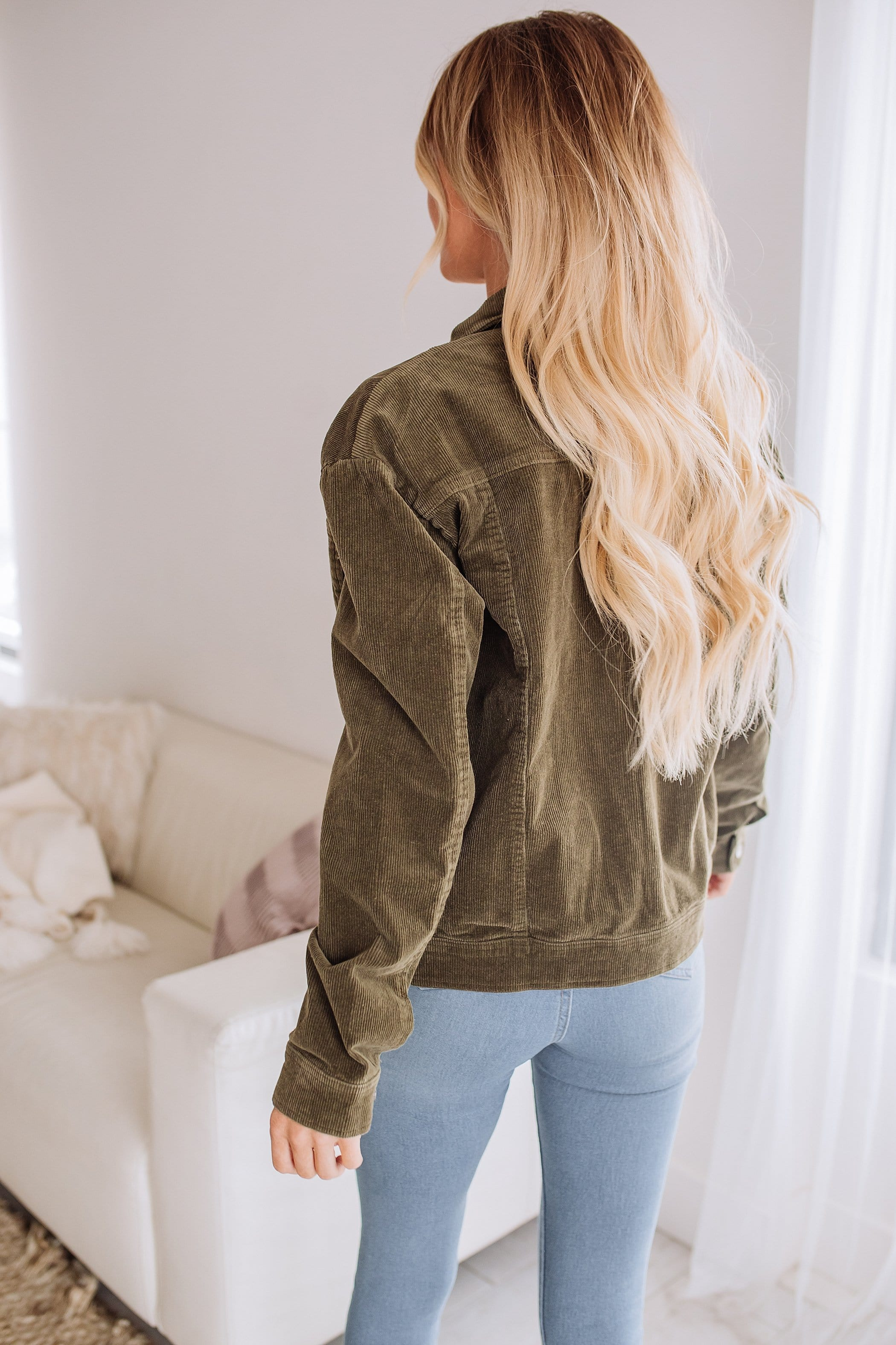 The Lou Corduroy Jacket in Olive