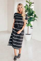 The Eliza Striped Midi Dress