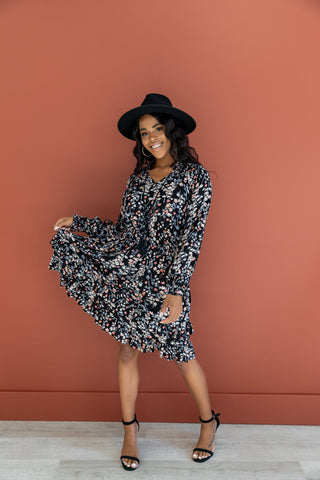 The Orchard Button Down Midi Dress in Denim and Honey